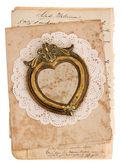 Vintage achtergrond met oude handgeschreven postkaarten — Stockfoto