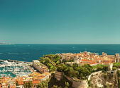 Panoramic view of Monaco. vintage style — Stock Photo