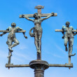 Stock Photo: Sculpture crucifixion of Jesus Christ, INRI