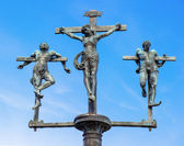 Sculpture crucifixion of Jesus Christ, INRI — Stock Photo