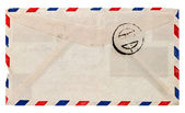 Vintage airmail envelope. retro post letter — Stock Photo