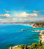 View of mediterranean resort, french riviera — Stock Photo