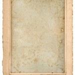 Постер, плакат: Old blank photo post card with frame