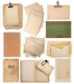 Set of various old paper sheets — Stock Photo
