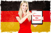 German language learning concept — Stock Photo