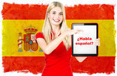 Spanish language learning concept — Stock Photo