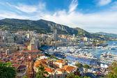 Vista del porto di monaco, preparata per formula 1 grand prix de città — Foto Stock