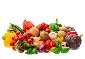 Groep van verse groenten en kruiden — Stockfoto