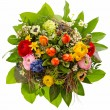 Bouquet of fresh colorful flowers isolated on white — Stock Photo #25978595