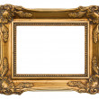 Old golden frame. antique object — Stock Photo