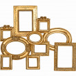 Golden framework isolated on white background — Stock Photo