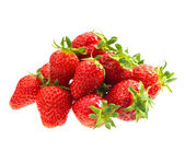 Red strawberries isolated on white — Stock Photo
