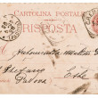Italian handwritten postcard letter — Stock Photo