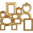 Antique golden framework isolated on white — Stock Photo