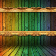Colorful decorative dirty wooden background — Stock Photo