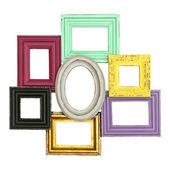 Vintage style framework isolated on white — Stock Photo