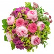 Bouquet of beautiful pink peony on white background — Stock Photo #27679339
