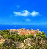 Panoramic view of Monaco. Mediterranean Sea landscape — Stock Photo