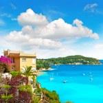 Mediterranean beach landscape, french riviera, provence — Stock Photo #28710911