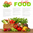 Постер, плакат: Fresh vegetables shopping basket healthy nutrition
