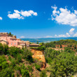 Stock Photo: Roussillon village near Gordes, Provence, France