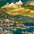 Beautiful sunset in Monaco. mediterranean landscape — Stock Photo #28714397