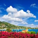 Beautiful mediterranean sea landscape with cloudy blue sky — Stock Photo