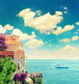 Beautiful mediterranean beach landscape, Provence, french rivier — Stock Photo
