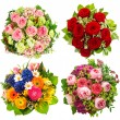 Four colorful flowers bouquet on white — Stock Photo #28998083