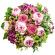 Bouquet of beautiful pink peony on white background — Stock Photo