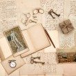 Old letters, vintage accessories, diary and photos from Florence — Stock Photo