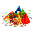 colorful carnival and birthday party decoration — Stock Photo