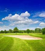 Green golf course — Stock Photo