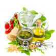 Ingredients for pesto sauce  — Stock Photo