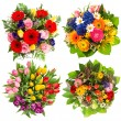 Flower bouquets — Stock Photo