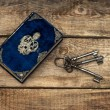Antique book and old keys — Stock Photo #31265239