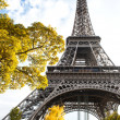 Eiffel Tower in autumn — Stock Photo