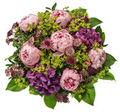 Bouquet of pink peony flowers — Stock Photo