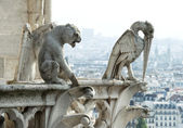 Stone demons from Notre Dame de Paris — Stock Photo
