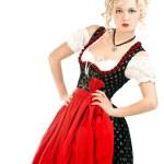 Woman in bavarian dress — Stock Photo