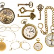 Golden collectible accessories — Stock Photo