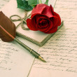 Stock Photo: Old love letters