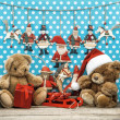 Vintage christmas decoration and toys — Stock Photo #31302851