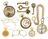 Golden collectible accessories — 图库照片