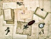 Staré dopisy a fotografie a věci — Stock fotografie