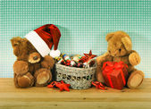 Decoración de la navidad con juguetes — Foto de Stock