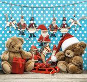 Juguetes y decoración navideña vintage — Foto de Stock