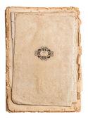 Stos starych dokumentów na białym tle — Zdjęcie stockowe