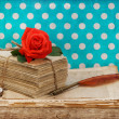Old love letters and postcards — Stock Photo #31397569