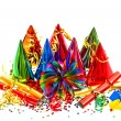 Colorful party, carnival, birthday, new years decoration — Stock Photo #34984067
